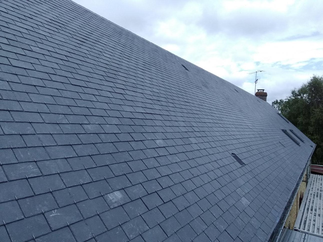 Après rénovation toiture ardoise